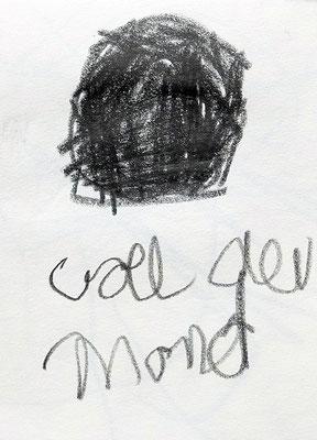 voll der Mond, 2015, 7,5 x 10 cm, Bleistift auf Papier