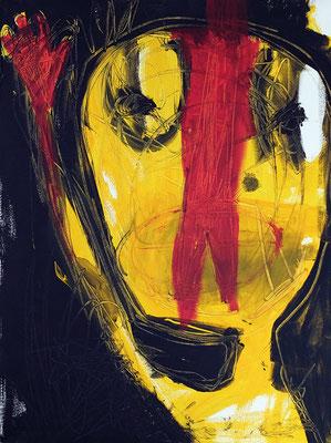 Ch'schwör, 2018, 60 x 80 cm, Acryl auf Leinwand