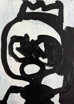 KingKük, 2019, 20 x 30 cm, Acryl auf Leinwand