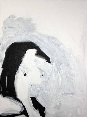 junge Frau, 2018, Acryl auf Leinwand, 60 x 80 cm