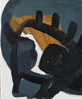 o.T., 2018, 30 x 40 cm, Acryl auf Leinwand
