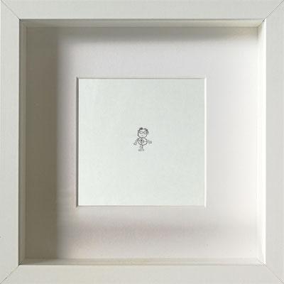 Der Mensch ist das Ziel, 2018, 20 x 20 cm, Graphit auf Papier, gerahmt