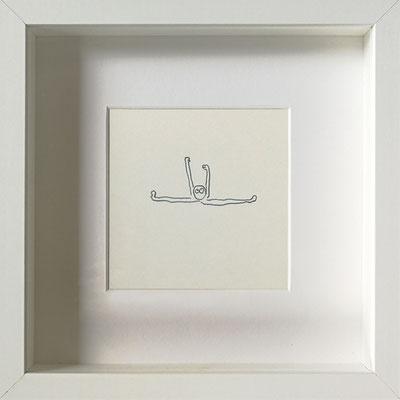 Dehnsucht, 2019, 20 x 20 cm, Graphit auf Papier, gerahmt