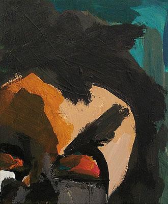 Beethoven beim Komponieren, 2017, 30 x 40 cm, Acryl auf Leinwand