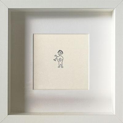 Leerkörper, 2019, 20 x 20 cm, Graphit auf Papier, gerahmt
