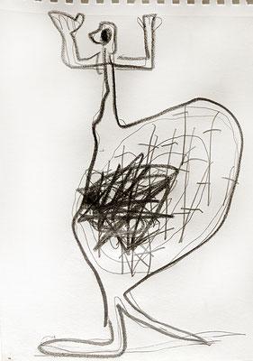 brauchschmerzen, 2015, 20 x 20 cm, Graphit auf Papier