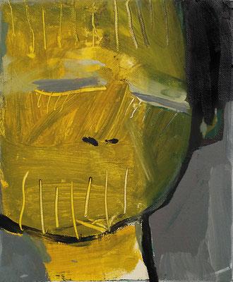 traurig, 2017, 30 x 40 cm, Acryl auf Leinwand