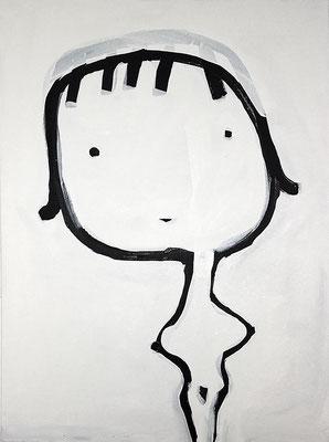 Punkt Punkt Komma Strich fertig ist die Frau nich, 2018, Acryl auf Leinwand, 60 x 80 cm