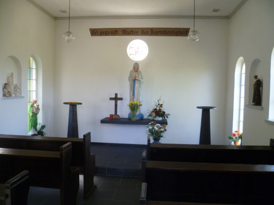 Kapelle in Geisemerich Innenansicht