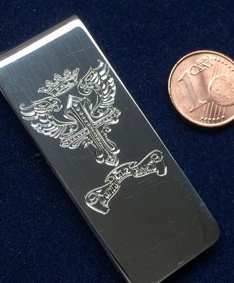 Geldklammer mit Motiv 925er Silber