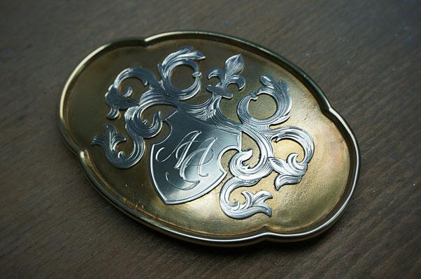 Wappengravur Gürtelschnalle