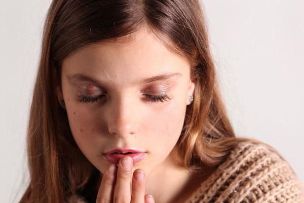 Olivia, haar ogen zijn zelfs mooi als ze ze dicht heeft