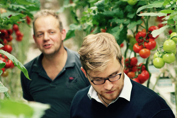 Jacob, tuinder, en Max, inkoper van groente en fruit