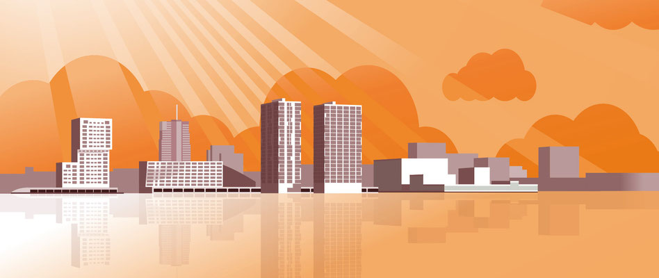 Skyline Almere tbv. animatie