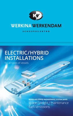 Werkina Werkendam, uitleg hybride aandrijvingssysteem, banner op beursstand