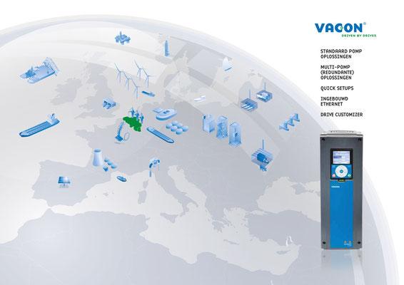VACON, visualisatie van alle toepassingsgebieden