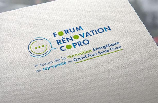 """Logo de l'événement """" Forum de la rénovation énergétique en copropriétés"""""""