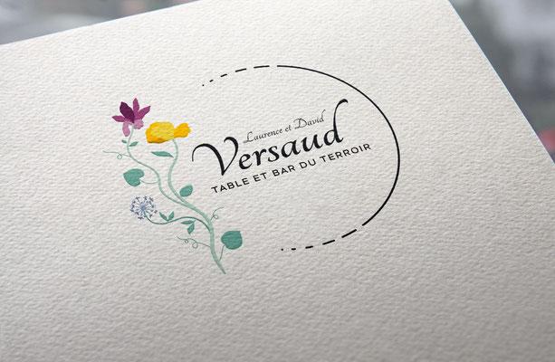 Agence communication Un Degré Cinq - Création du logo du restaurant Versaud à Viriat