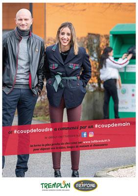 #coupdefoudre, une campagne d'information pour le recyclage des textiles