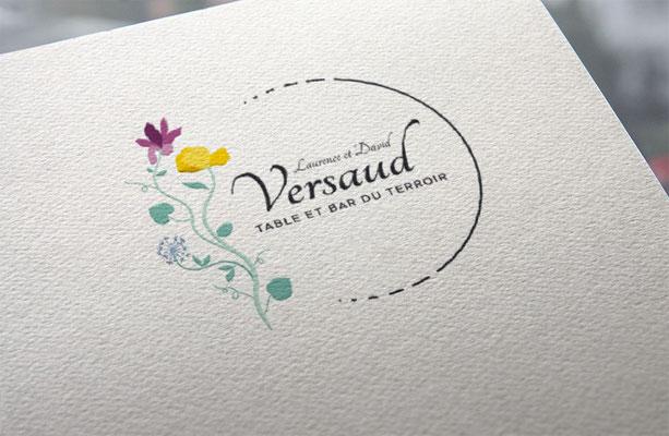 Agence de communication écoresponsable Un Degré Cinq à Bourg-en-Bresse : création de l'identité visuelle du restaurant Versaud à Viriat