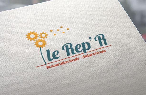 Agence de communication écoresponsable Un Degré Cinq à Bourg-en-Bresse : création du logo du Rep'R
