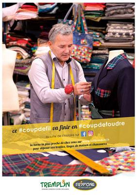 #coupdefil, une campagne d'information pour le recyclage des textiles