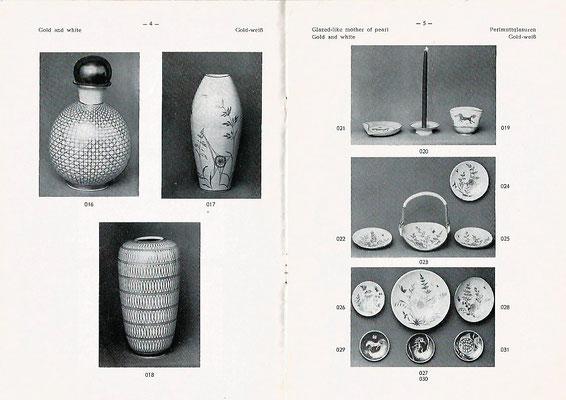 W. Thoms - Export aus Kiel, ein Namenvetter, vertrieb die Ware der Töpferei. Hier ein Ausschnitt aus dem Katalog.