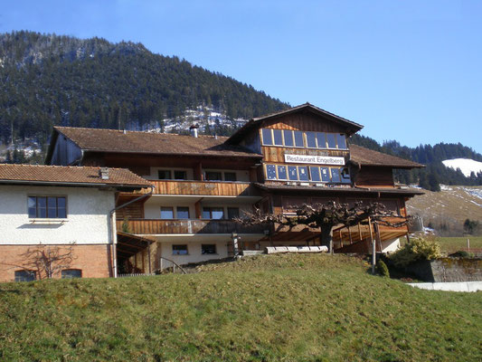 Gasthof Engelberg von unten