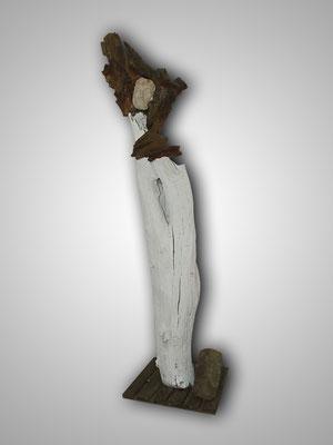 07_Holz_Speckstein09_Urvater, 155 x 45 cm, 24 kg