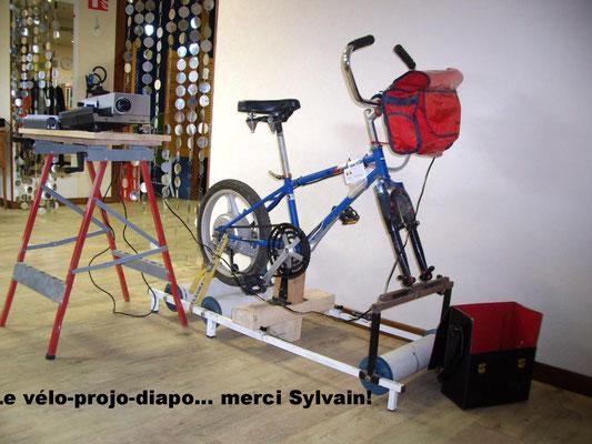 un ancien projet vélo diapo, pour le festival de géographie de saint Dié