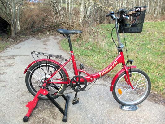 Le vélo générateur complet en position statique