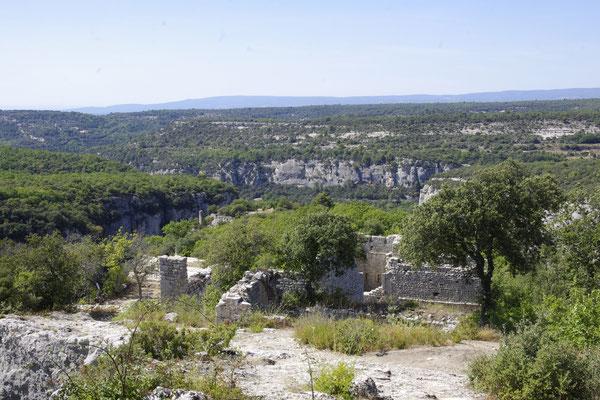 Blick von dem Fort von Buoux