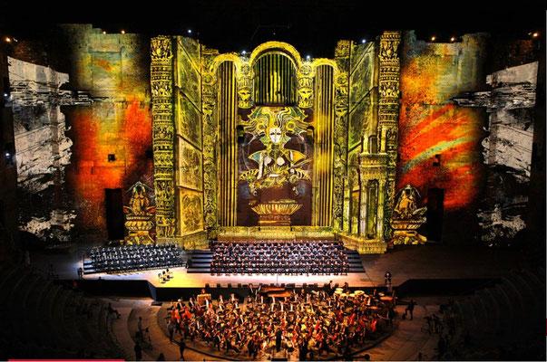 les chorégies d'Orange, lyric music festival