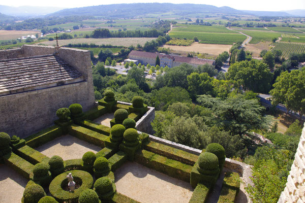 The gardens surrounding Ansouis castle in the Grand Luberon
