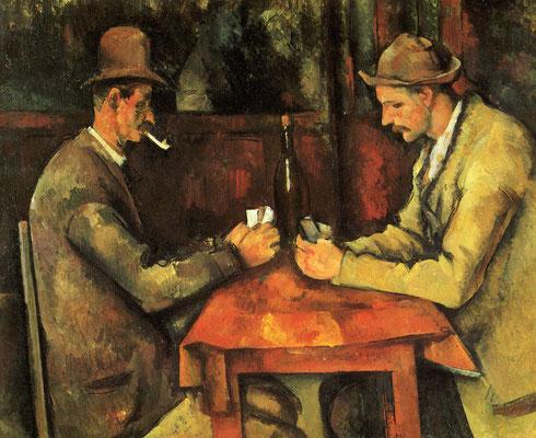 Paul Cézanne, die Karten Spieler