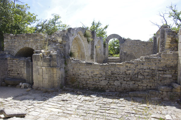 The church built in the  XIII eme century in the Buoux fortress