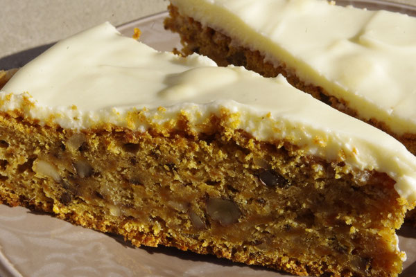 our homemade carrot cake