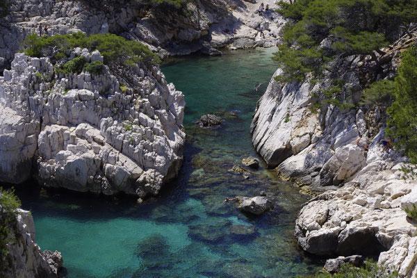 La calanque de Sugiton près de Marseille