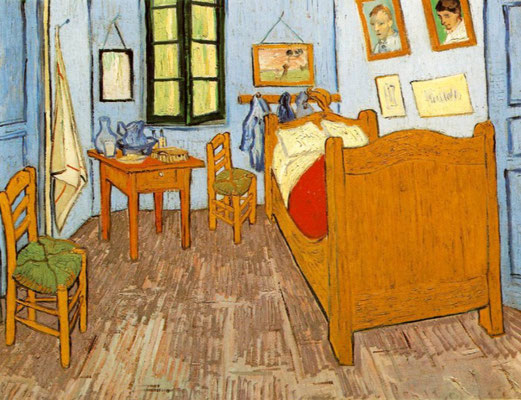 Van Gogh bedroom in Arles painted by himself