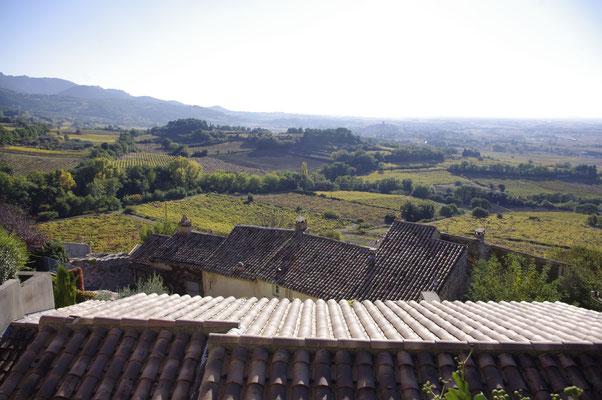 Séguret, vue sur les vignes