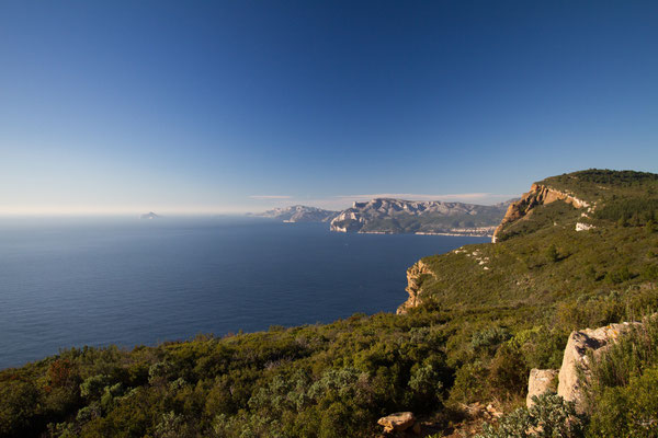 The ridge road between Cassis and la Ciotat