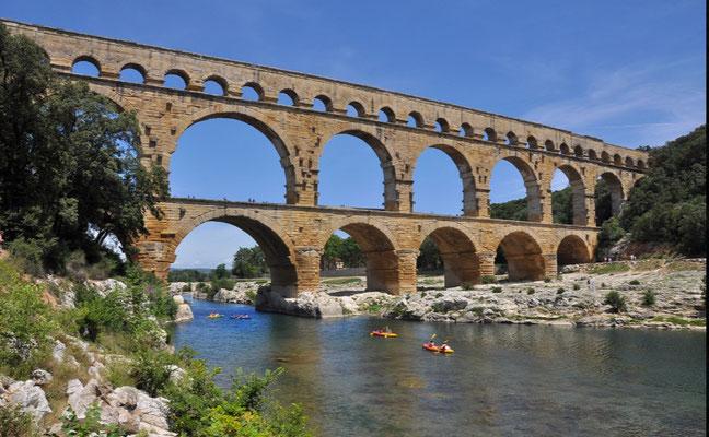 Pont du gard romanische Brücke