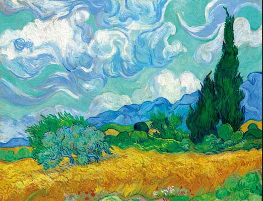 Die gelbe Weizen durch Van Gogh