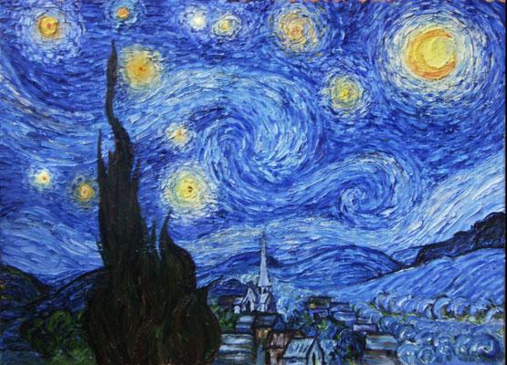 Der Himmel mit Sternen duch Van Gogh
