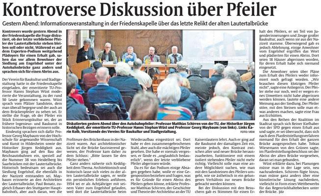 Der Artikel der Rheinpfalz vom 3. Feb. 2017 über die Veranstaltung