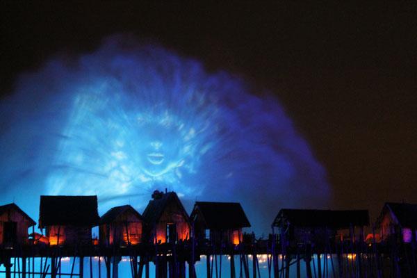 Spectacle lumières Singapour