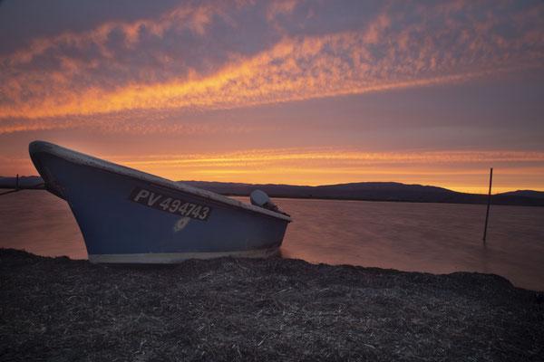 Port Leucate coucher du soleil