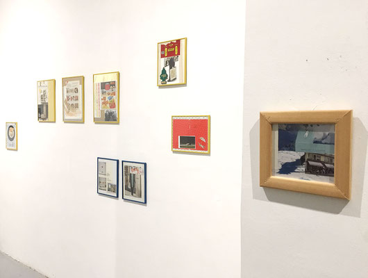 Minute collage, Hacking the network, exhibition installation, photo: Dragan Petrovic