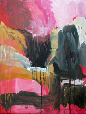 Monika Maier-Speicher - Rote Schlucht 2020, Acryl auf Leinwand, 80x60 cm