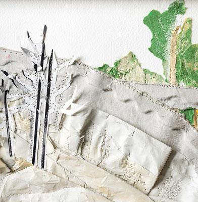 Ingrid Eckert, GEDOK-Galerie Heidelberg - Jenseits der Brücke ist es grün